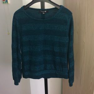 Forever 21 sparkly striped sweater size medium